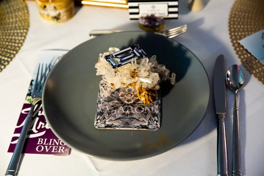 "Amanda Jaron's table with the theme ""Jewelry!"" on display at the Ritz-Carlton Golf Resort in Naples on March 11, 2019, for the League Club of Naples annual fundraising luncheon."
