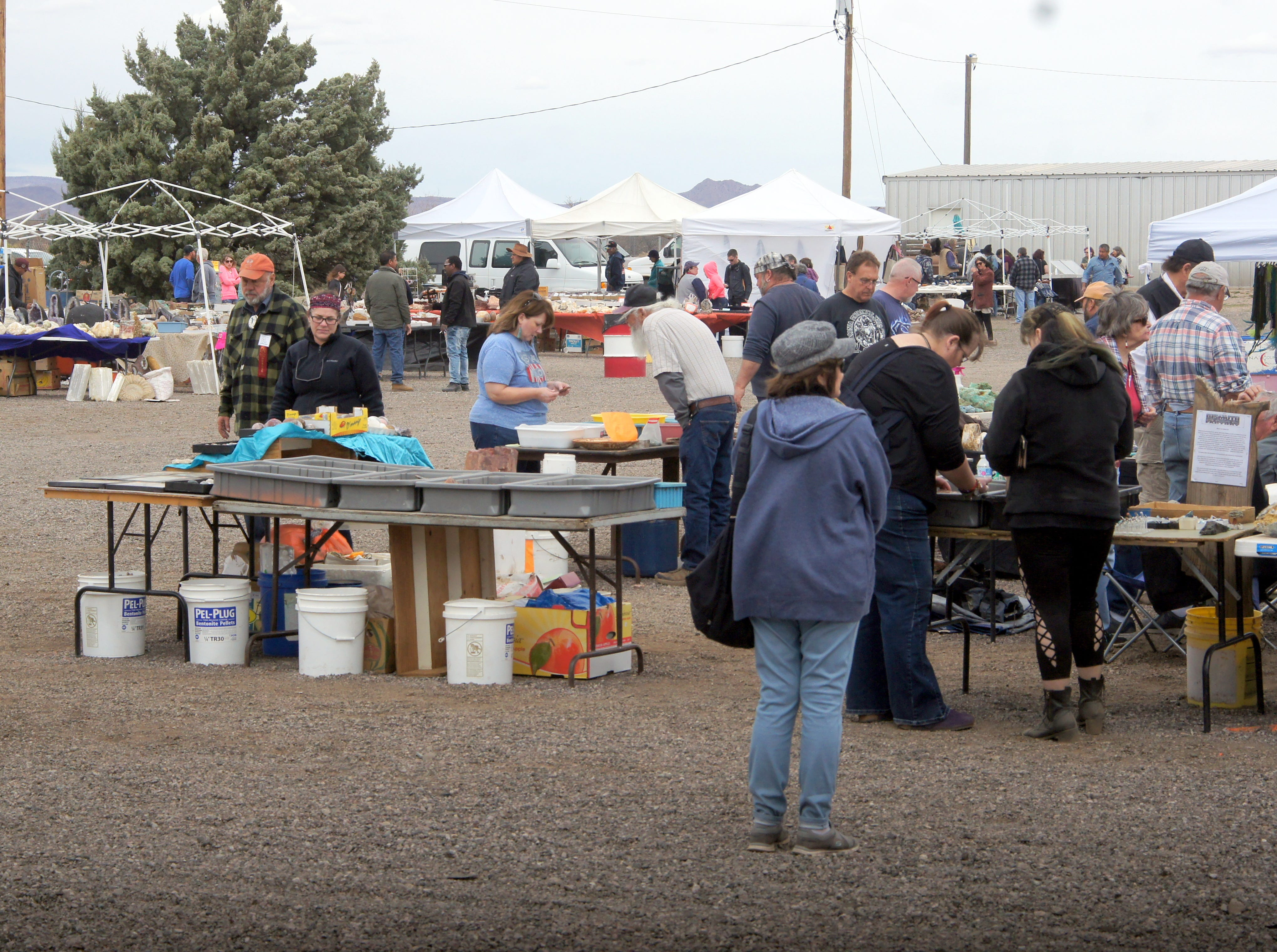 Vendors filled the grounds at the Southwestern New Mexico State fairgrounds for the 54th annual Rockhound Roundup in Deming, NM.