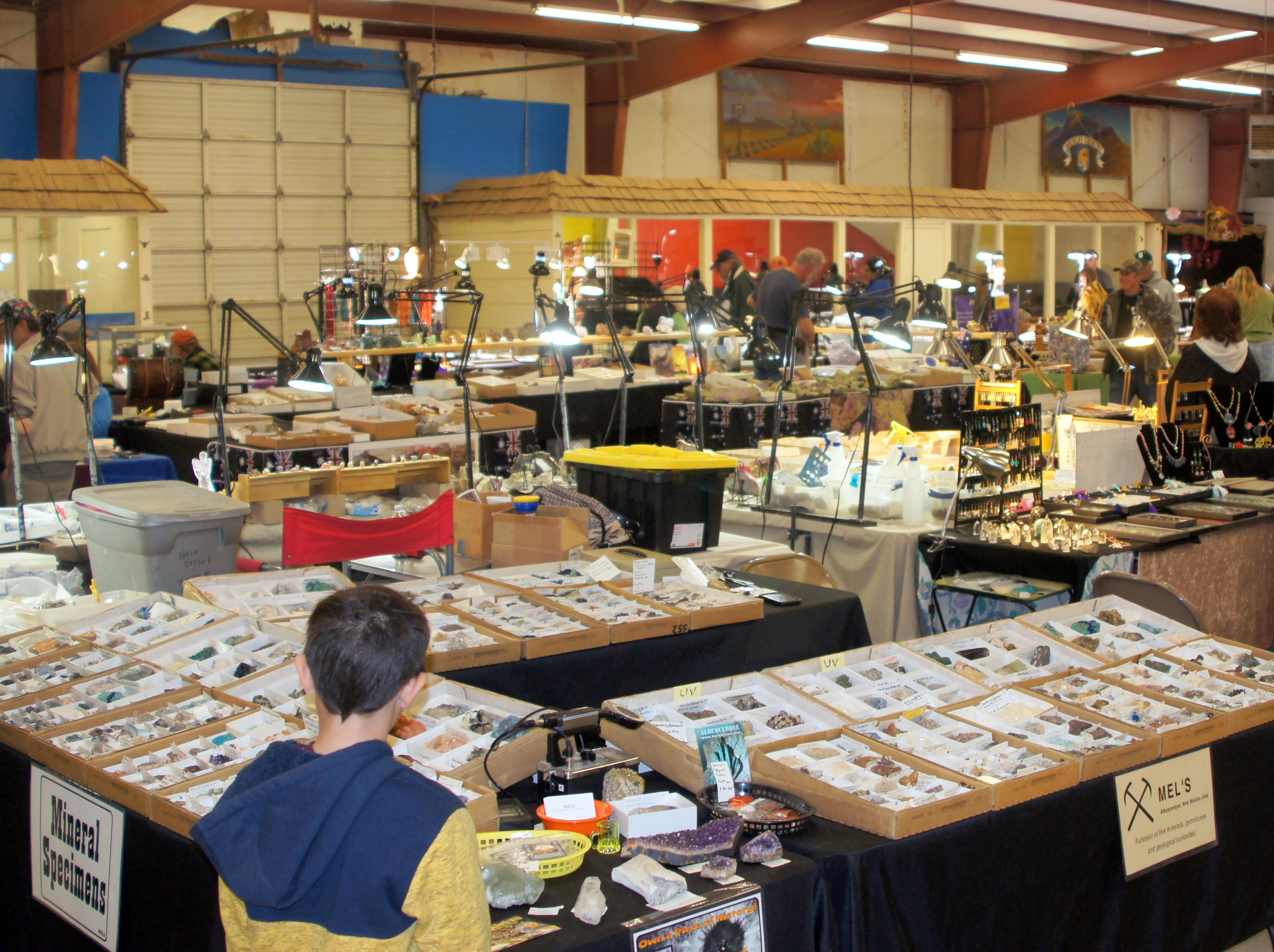 The fair building were packed on Sunday - the final day of the 54th annual Rockhound Roundup in Deming, NM.