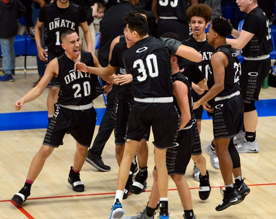The Oñate boys basketball team look to continue their run through the state tournament after upsetting No. 2 Las Cruces in the first round. The Knights play Cleveland on Thursday in Albuquerque.