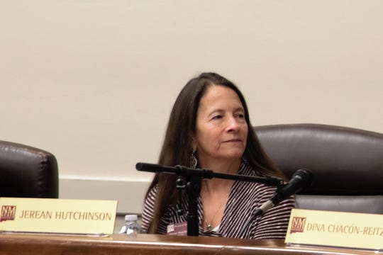 NMSU regent Jerean Hutchinson at the regents meeting on March 8, 2019. Her term concludes on Dec. 31, 2020.