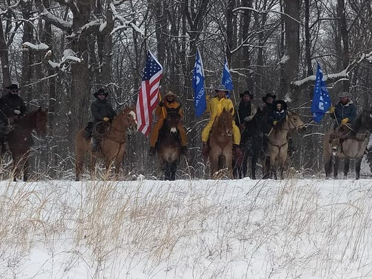 Members of Cowboys for Trump on their journey to the White House.