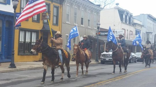 Cowboys for Trump during their ride to Washington D.C.