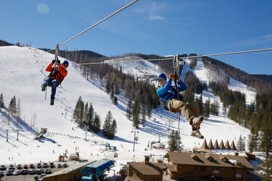 Ski Apache Wind Rider zipline is a popular attraction in every season.