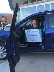 Shannon Hadley, named Novi Teacher of the Year on March 11, 2019, wins a vehicle lease from Suburban Collection and will be able to select a vehicle of her choosing for either a 2 or 3-year lease.