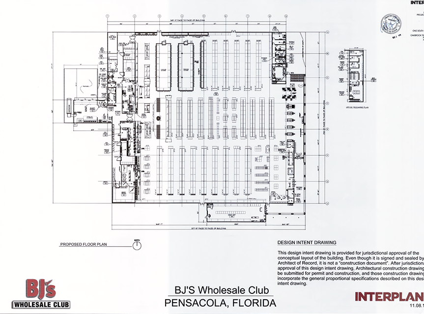 Renderings show what the new Pensacola BJ's Wholesale Club is planned to look like once it's constructed at University Town Plaza at 7171 N. Davis Highway.