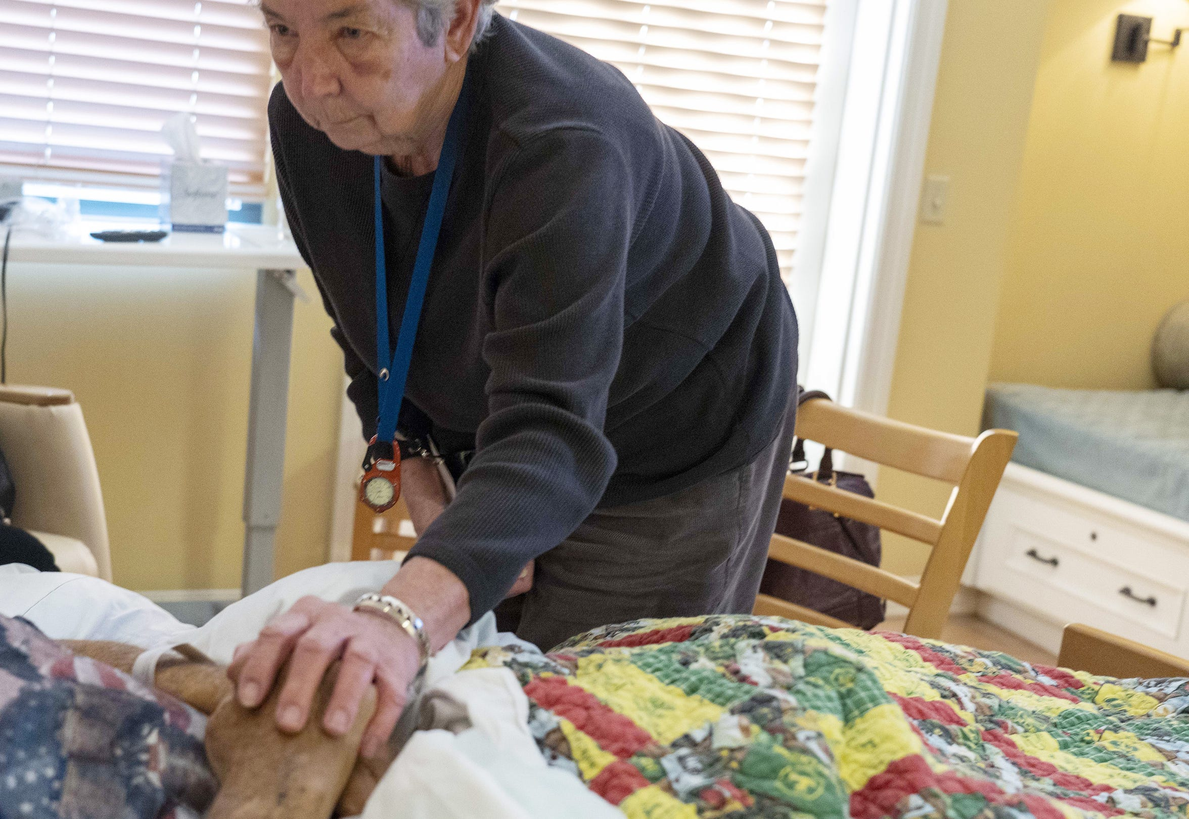 Jane Conrow was among the first volunteers for Hospice of the Valley's 11th Hour Companion program. Since then she'd sat with 215 patients.
