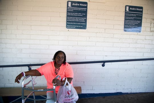 Stevenson is able to get food, clothing and a shower from Andre House of Hospitality homeless center in Phoenix.