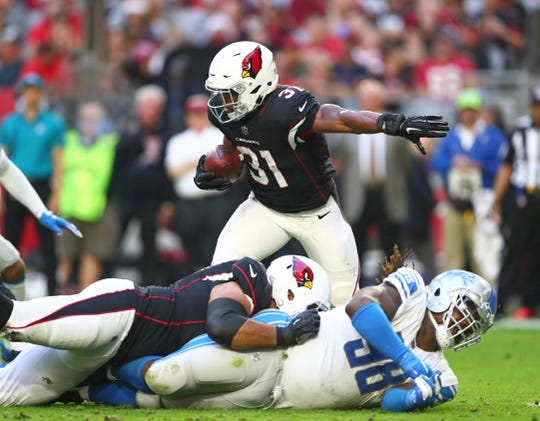 The Arizona Cardinals' David Johnson is among the highest paid running backs in the NFL.
