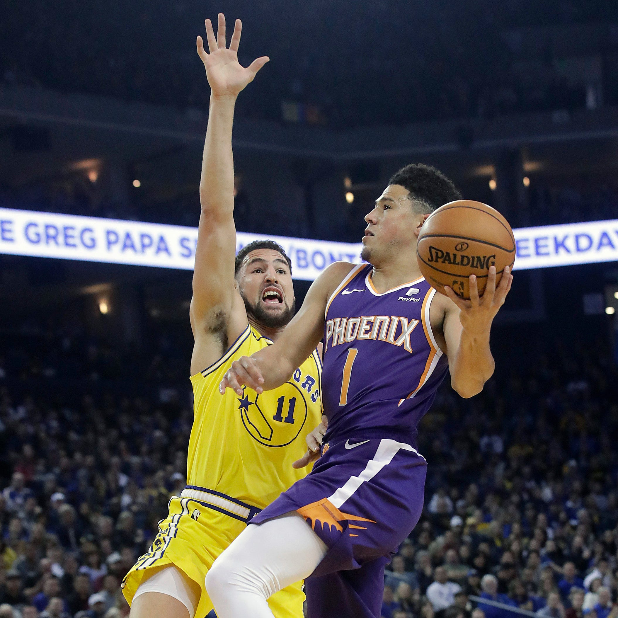 Devin Booker, Suns 'fought to the end' to knock off Warriors at Oracle Arena