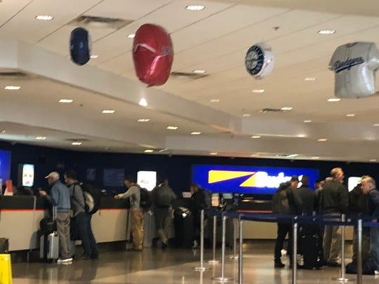 Budget Car Rental counter at Phoenix Sky Harbor International Airport