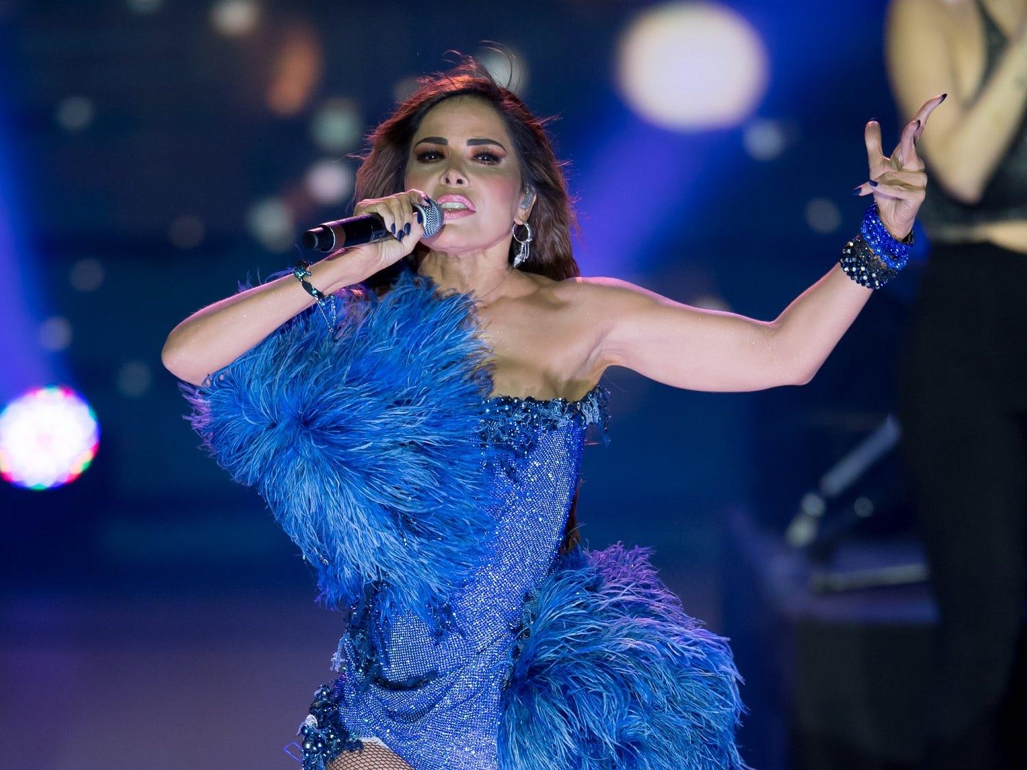 Gloria Trevi en el musical de los Premios TVyNovelas.