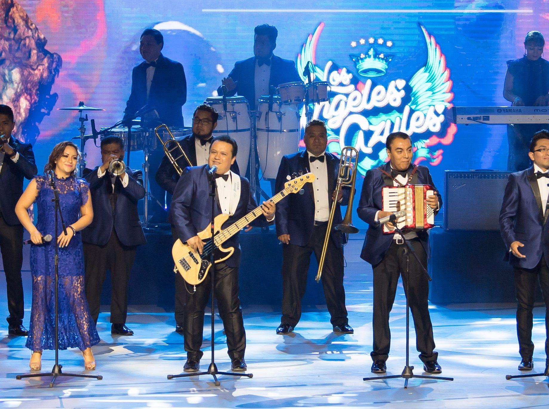 Los Ángeles Azules en los Premios TVyNovelas 2019.