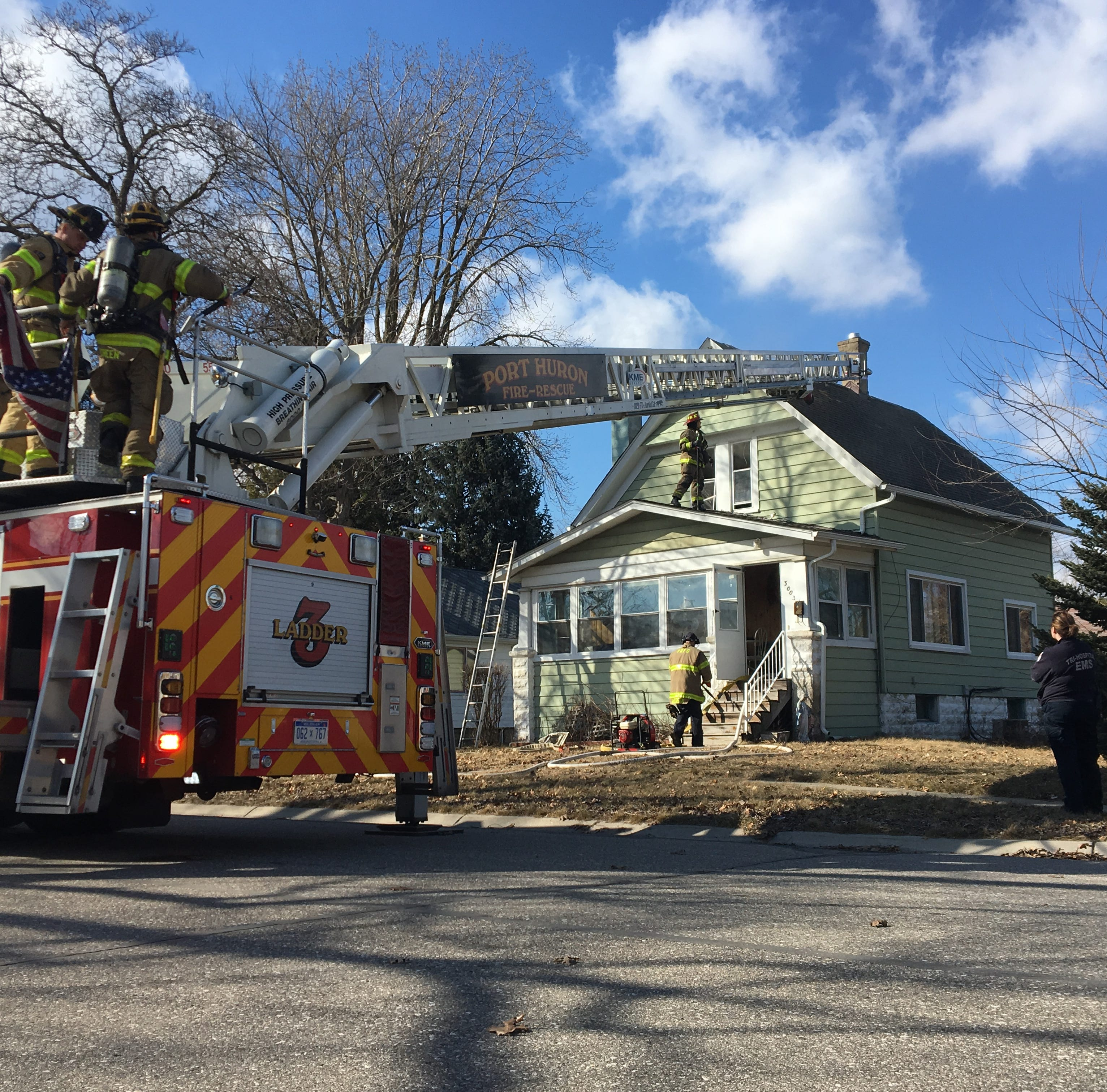 Firefighters responding to Conner St. house fire