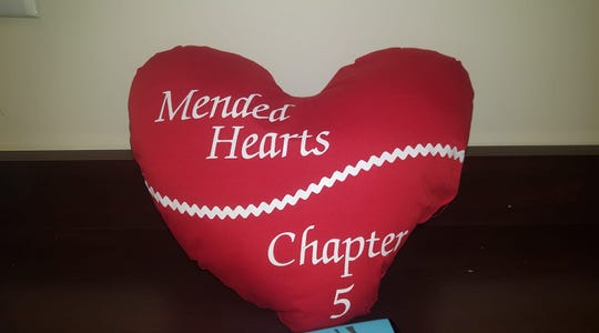 Members of the group Mended Hearts of the Hudson Valley Chapter 5 distribute heart-shaped pillows to cardiac patients and provide support for patients. Volunteers are needed.