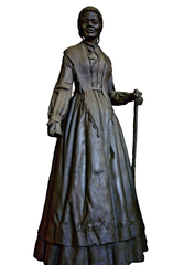 Sojourner Truth, an abolitionist and women's rights advocate who was born in Ulster County, will have a monument of her created on the Walkway on the Hudson. This is a rendering of it.
