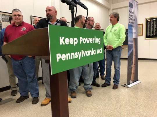 State Rep. Thomas Mehaffie, R-Dauphin County, introduced the Keep Powering Pennsylvania Act Monday, March 11.  The bill would effectively add nuclear energy into the Alternative Energy Portfolio Standards Act. (Photo by: Lindsay VanAsdalan)