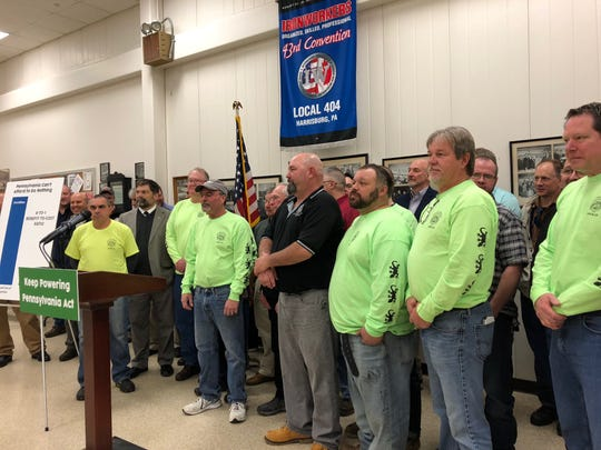 Local unions including the Boilermakers Local 13 (pictured) in Eastern Pennsylvania, came to the Ironworkers Local 404 on March 11 to support legislation that would effectively add nuclear energy into the Alternative Energy Portfolio Standards Act.