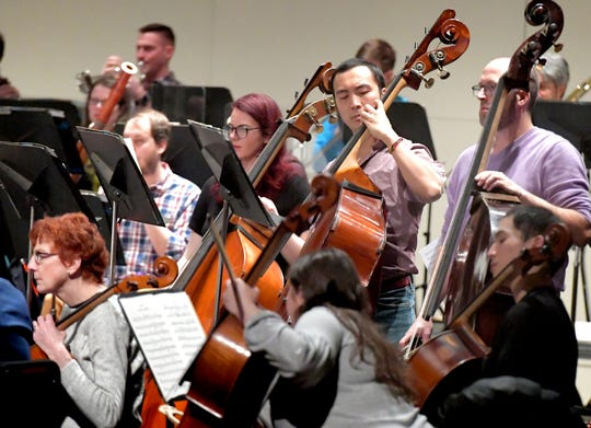 The York Symphony rehearses at the Appell Center for the Performing Arts Friday, March 8, 2019. Bill Kalina photo