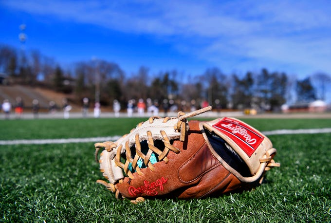 The Red Lion Area High School baseball team gets outside for a practice, Monday, March 11, 2019John A. Pavoncello photo