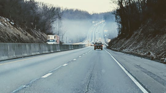 It was somewhat of a foggy morning on Interstate 83 Monday.