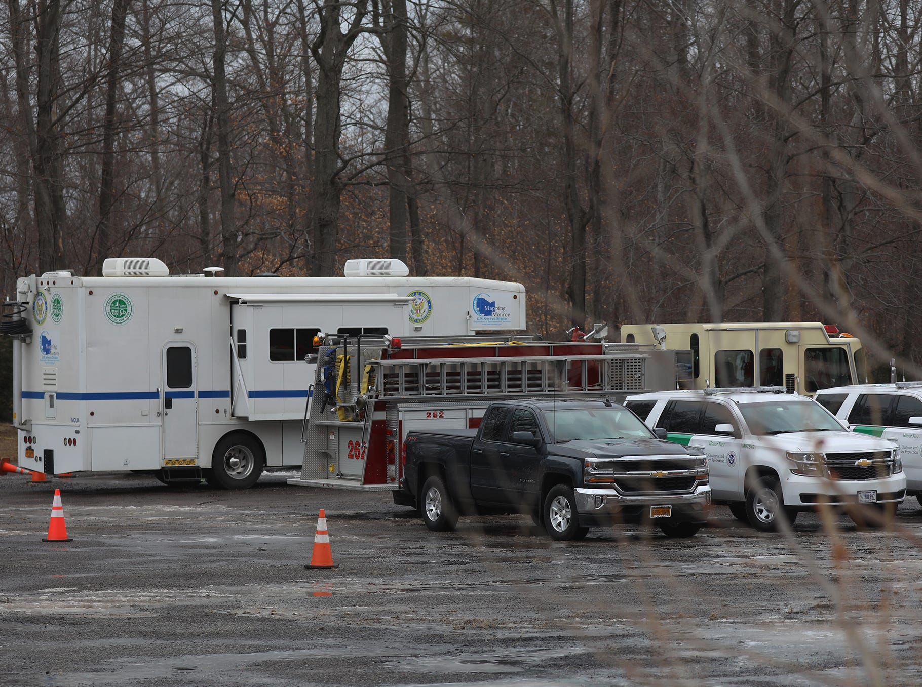 NYS Police, NYS Park Police, NYS Forest Rangers, Border Patrol, Hamlin Fire Dept., and Monroe County Emergency Operations are some of the emergency personnel assisting in the search.