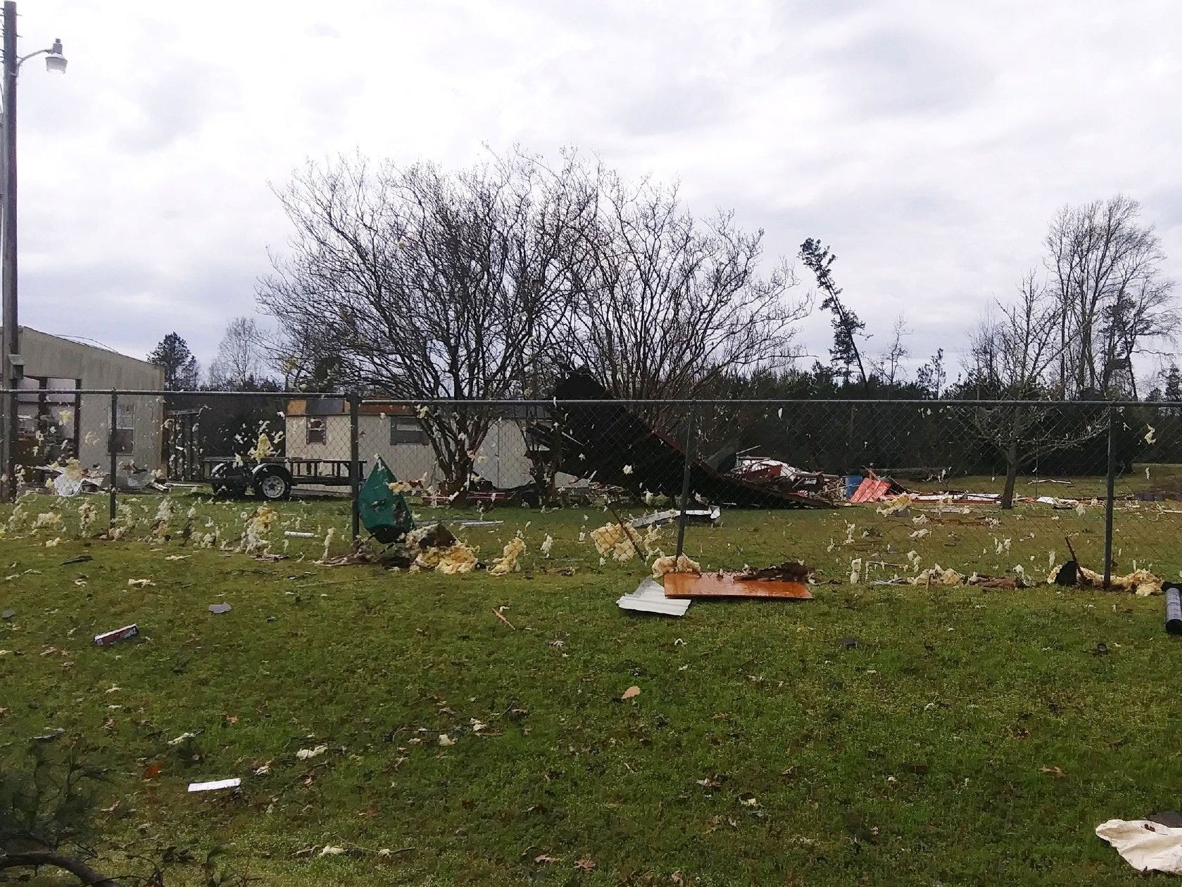 Tornado damage along Highway 157 and Red Land Road in Bossier Parish. Three category EF1 tornadoes were reported to touchdown in Bossier, Caddo and Webster parishes on March 9, 2019.   Photo by