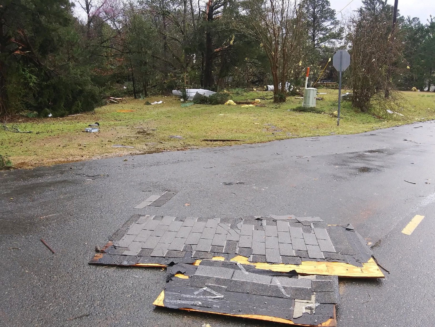 Tornado damage along Highway 157 and Red Land Road in Bossier Parish. Three category EF1 tornadoes were reported to touchdown in Bossier, Caddo and Webster parishes on March 9, 2019.