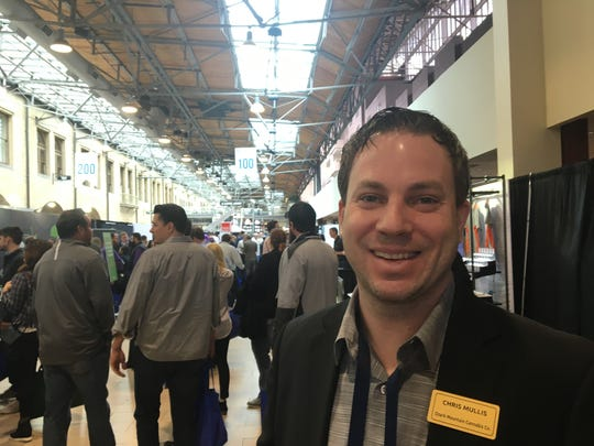 Chris Mullis is from Springfield and owns Ozark Mountain Cannabis Co. He attended a marijuana industry trade conference held in St. Louis on March 11-12, 2019 and plans to apply for all four types of state-issued marijuana business licenses to create a complete seed-to-sale operation based in central Springfield.
