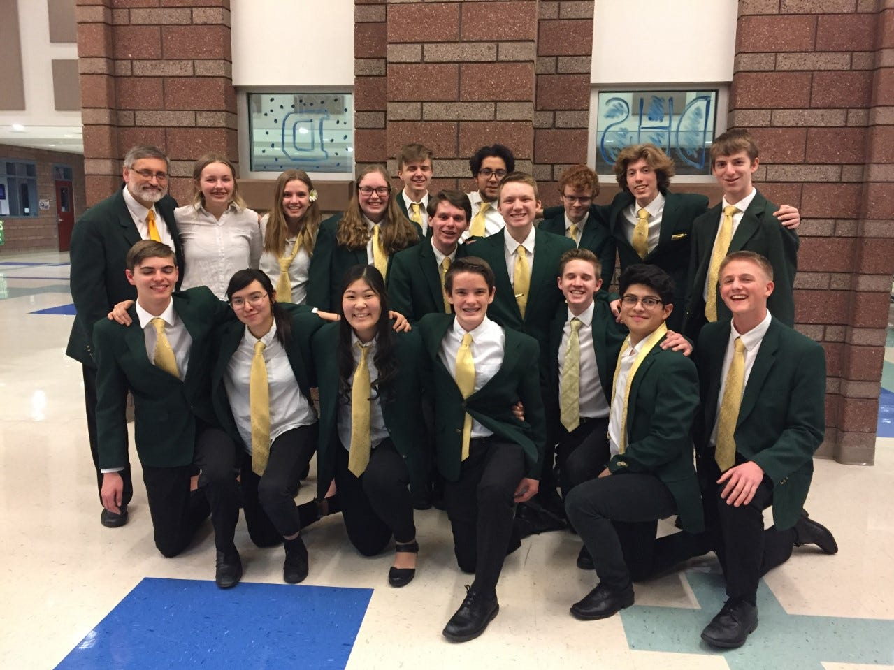 Members of the Snow Canyon High Jazz Band pose at the region competition on Feb. 27, 2019. The team is scheduled to participate in the state competition March 22-23.