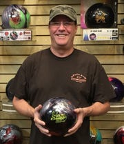 Mesquite bowler Danny Barker poses in the pro shop after posting a 220 average over his previous six league games, a stretch that included 38 strikes.