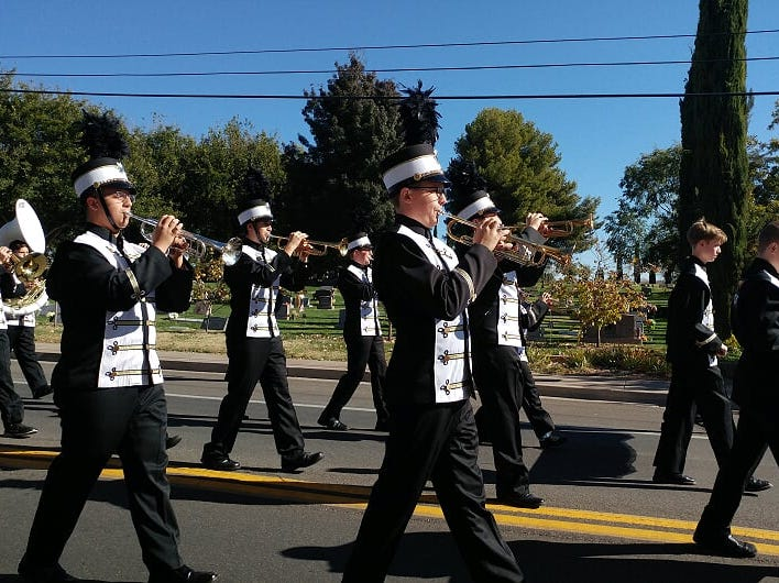 The Desert Hills Middle and High School bands participated in the Veterans Day Parade, Nov. 12, 2018 in St. George.