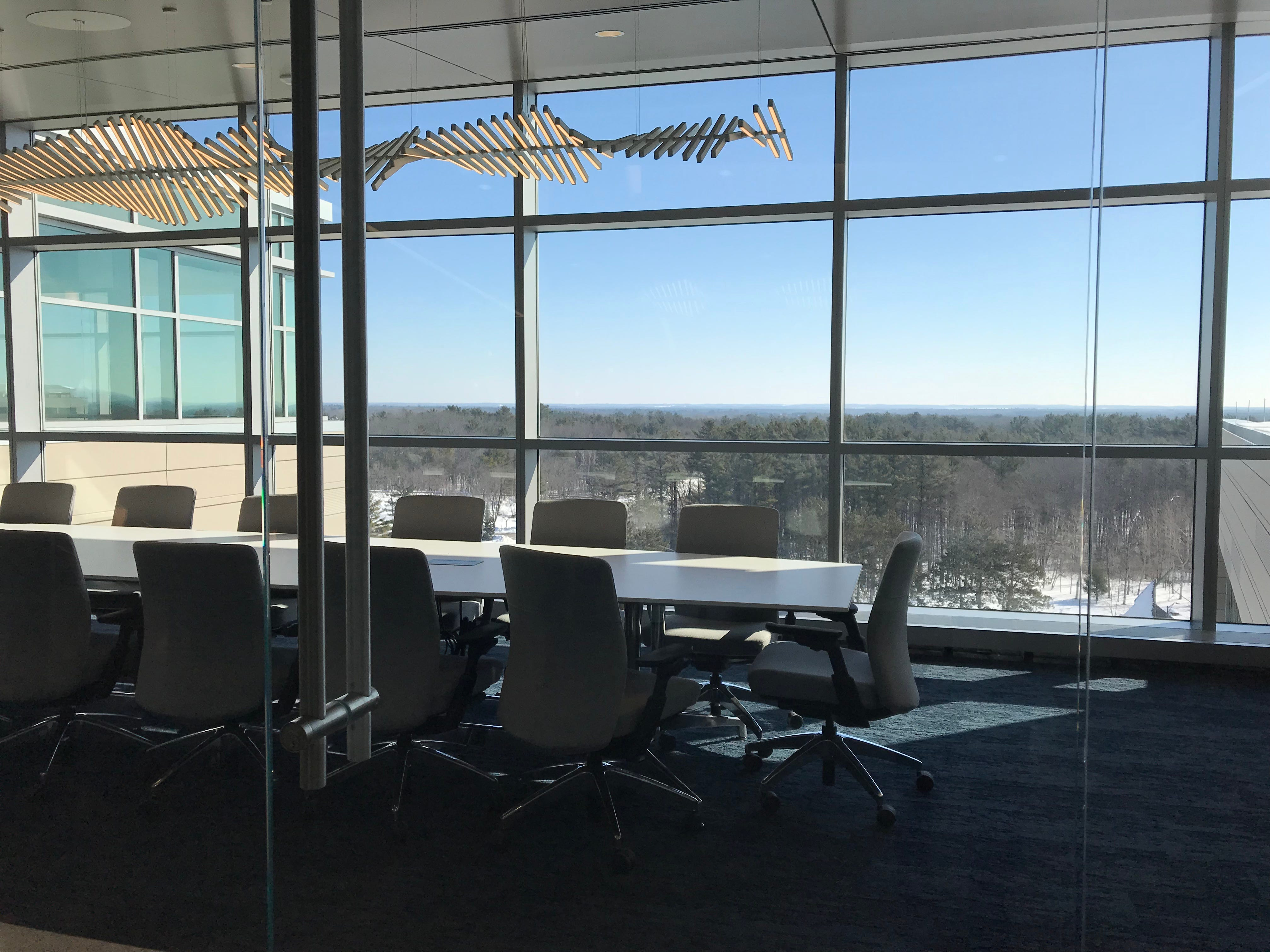 The view from a conference room in the Sentry Insurance building at 1501 North Point Drive in Stevens Point.
