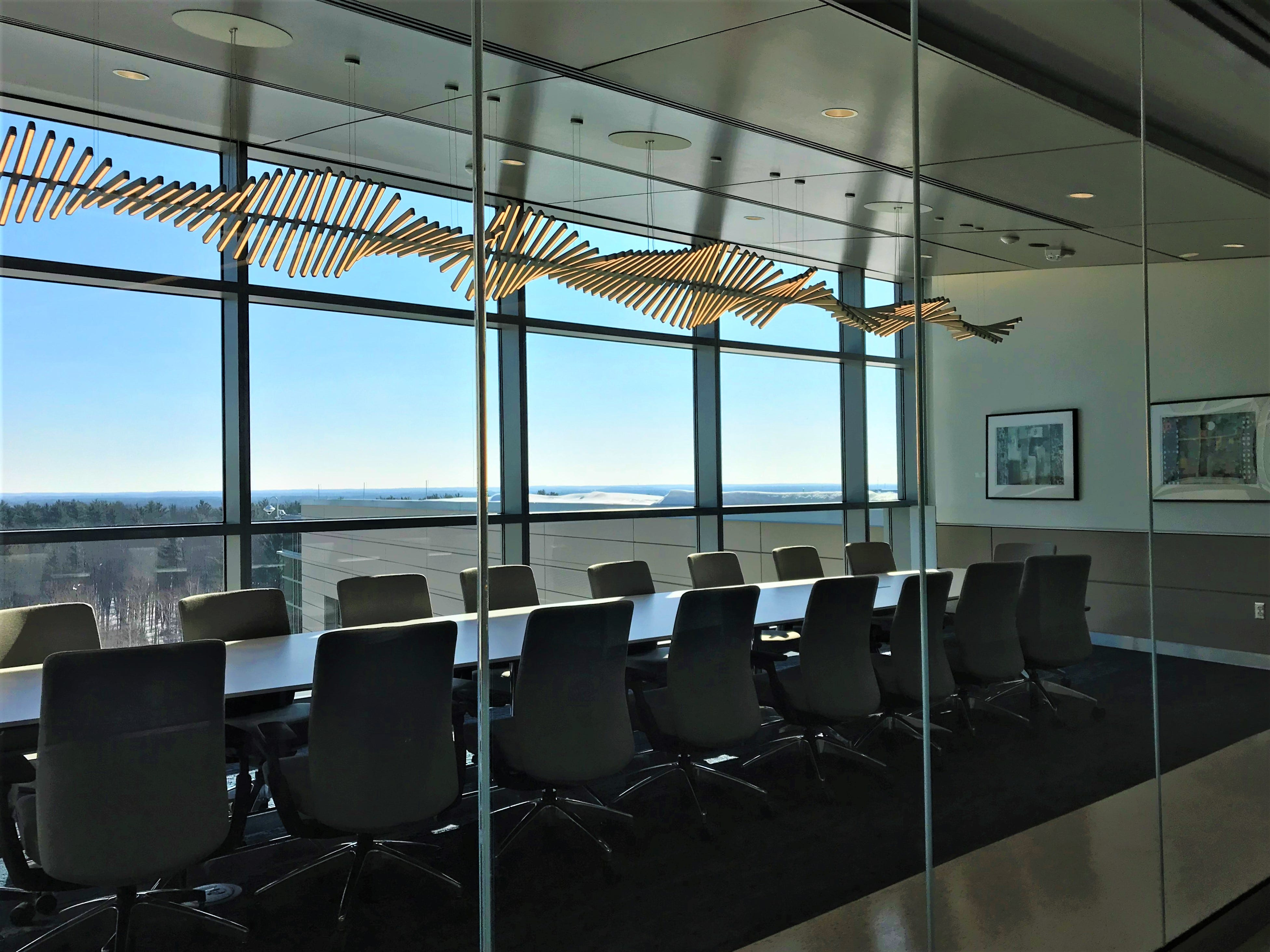 A conference room in the new Sentry Insurance building in Stevens Point.