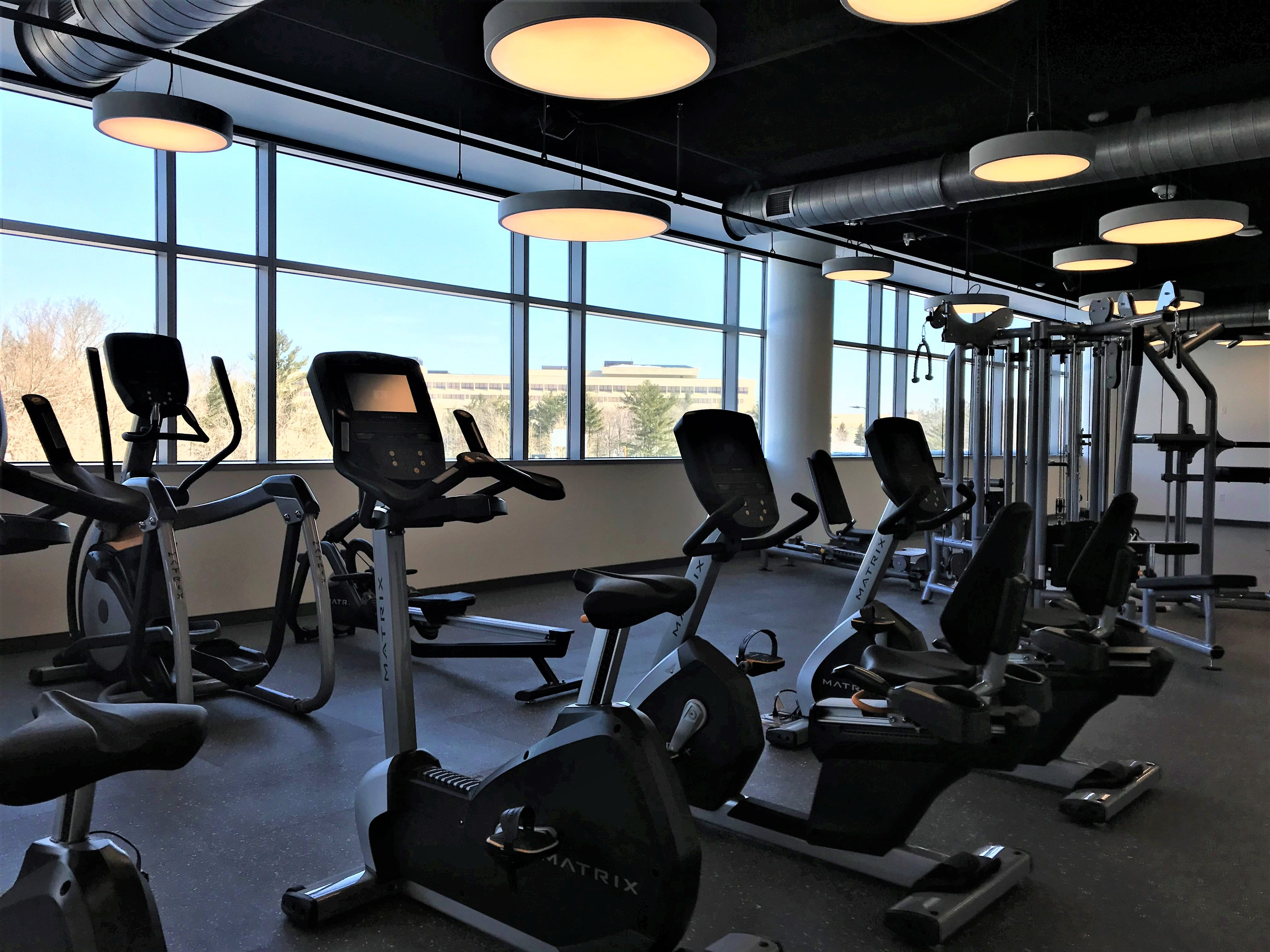 The workout room in the new Sentry Insurance building in Stevens Point