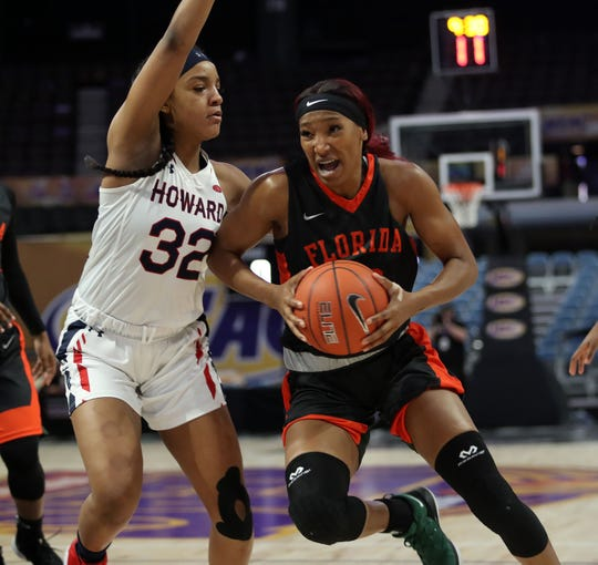FAMU junior forward Dy'Manee Royal had a game-high 16 points and 13 rebounds in a losing effort to Howard in the first round of the MEAC tournament.