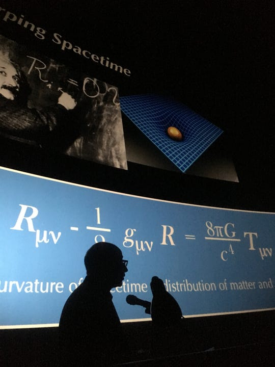 After his talk at the IMAX, Daivd Kaiser met with physics and geometry students from SAIL High Schoo.
