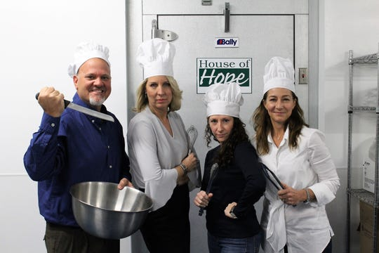 The amateur chefs competing in the 2019 Top Chef Martin County charity event are, from left, Craig Ahal, Tamara Matthew, Jennifer DiTrapani and Tina Kraft. Not pictured: Michelle Maguire.