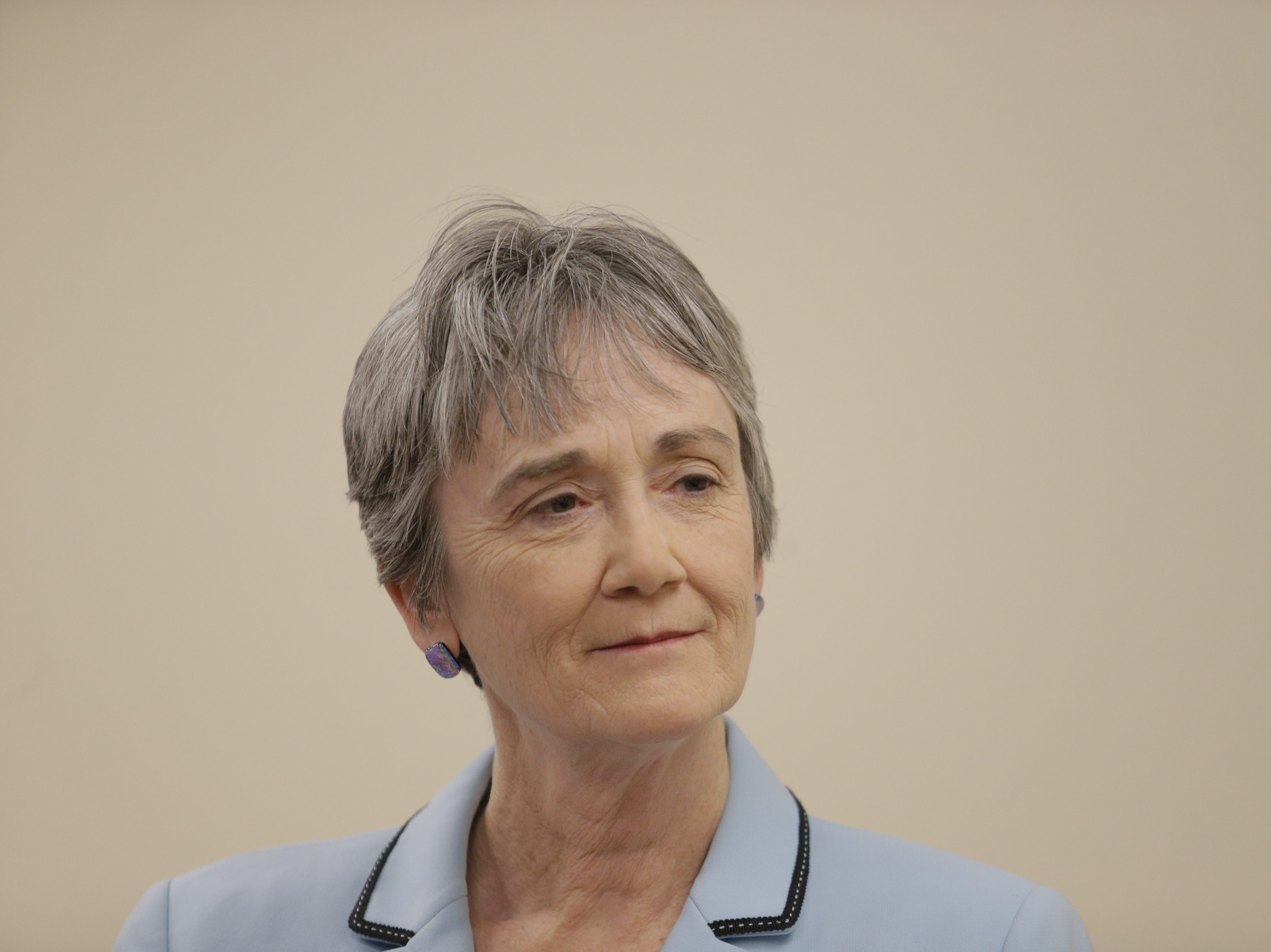 Heather Wilson, expected to be the next president of the University of Texas at El Paso, visited the campus on Monday morning.