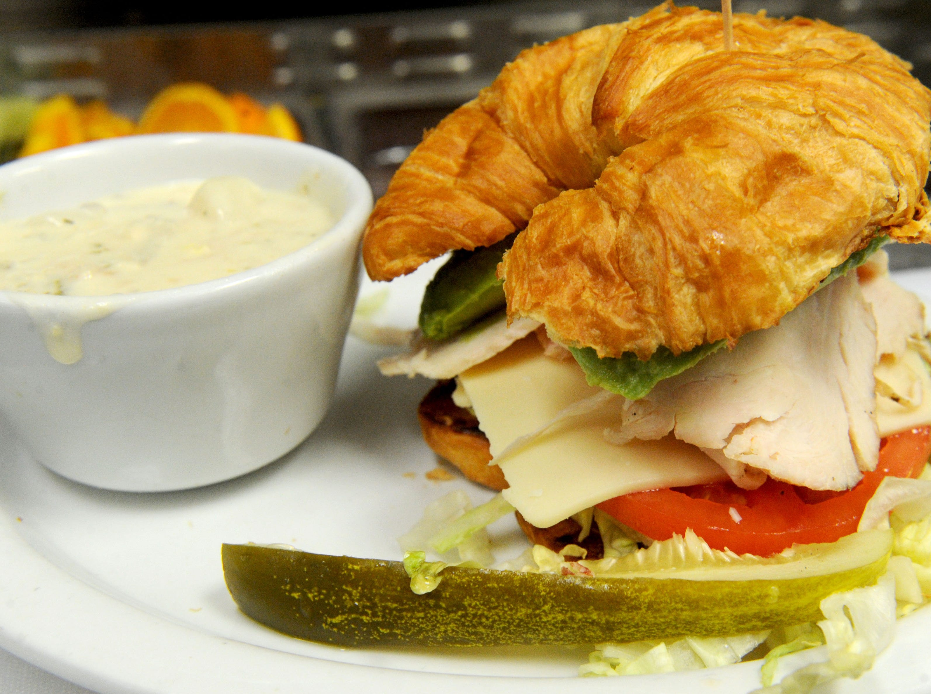The turkey Swiss croissant sandwich at Jessica's Cafe is one of the Camarillo restaurant's best-sellers.