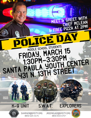 Santa Paula is hosting a meet-and-greet with Police Chief Steve McLean.