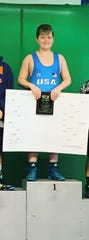 Matteo Vinciguerra earned a state title at the USAWNJ meet in Trenton last weekend.
