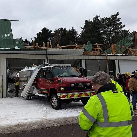 Volunteers pitch in after White Lake Fire Department roof collapses