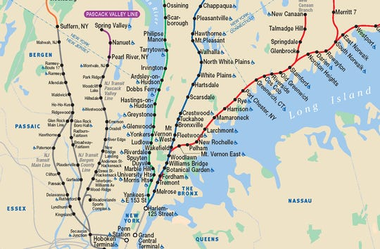 NJ Transit and Metro-North share lines in Rockland county