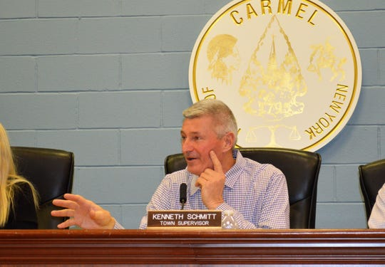 Carmel Town Supervisor Kenneth Schmitt won't make public the title report for the Swan Cove purchase because Town Attorney Greg Folchetti has the report in his private office.