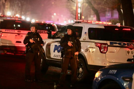 Police surround New York-Presbyterian Lawrence Hospital in Bronxville as the search for a gunman inside the hospital continues.