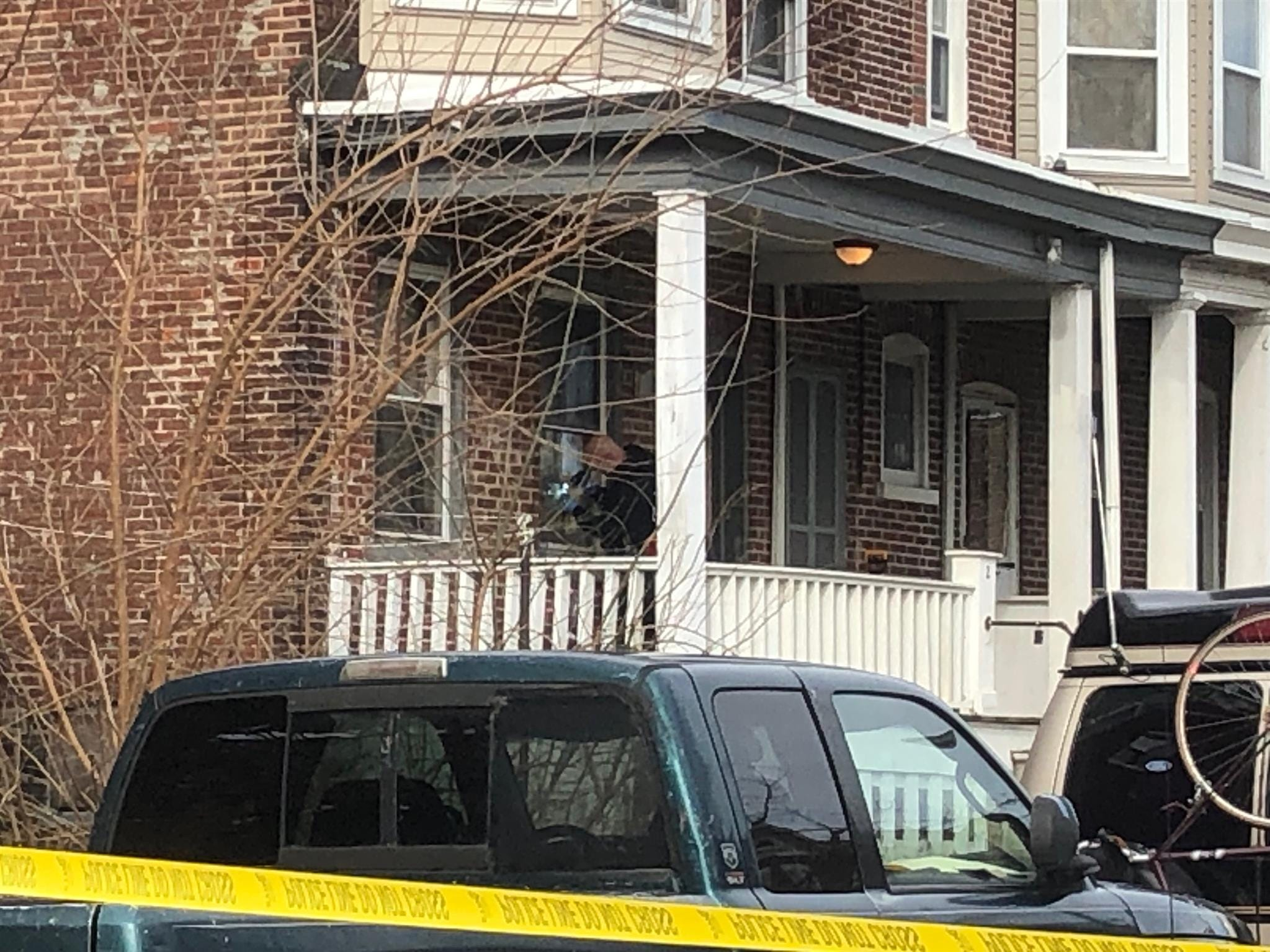 Wilmington police remain on the scene of a double homicide that happened before sunrise Monday, March 11, 2019.