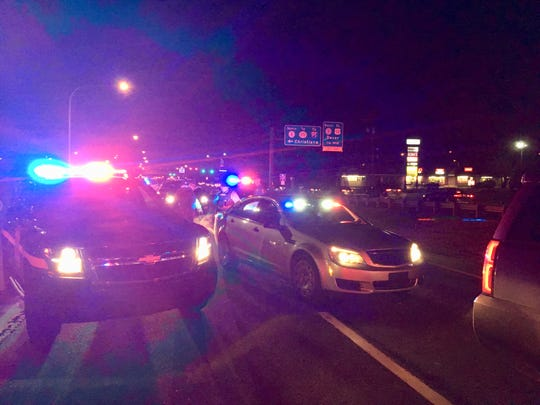 Delaware State Police on scene of a pedestrian-involved crash in Bear Sunday, March 10.