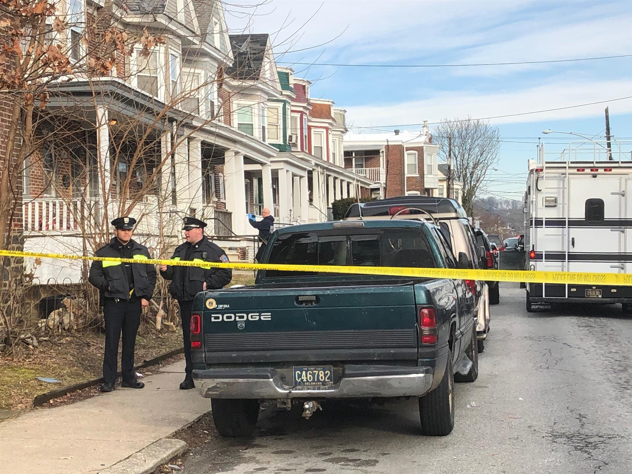 Wilmington police are on the scene of a double homicide that happened before sunrise on Monday, March 11, 2019.