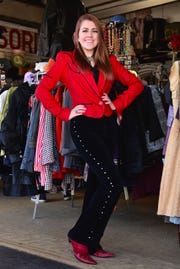 An ensemble from Fashion Garage on display from 10:30 a.m. to 12:30 p.m. Saturday at the Champagne and Cowgirls Style Show and Brunch at the Forum.